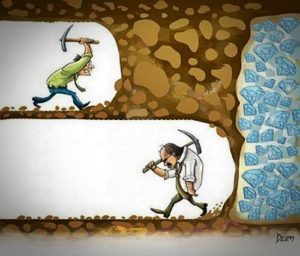 Never Give Up, You Never Know How Close You Are.